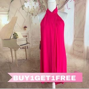 NEW Lush Hot Pink High Low sleeveless Dress